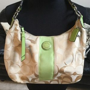 Coach Bag with Lime Green Accents LIKE NEW!